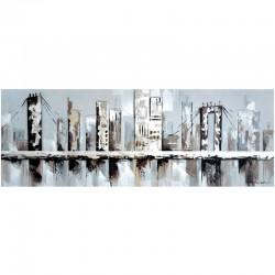 Tableau contemporain urbain 50x150