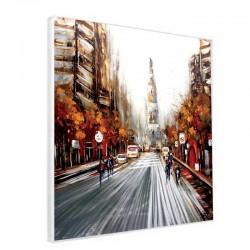 Tableau contemporain alu New york 60x60