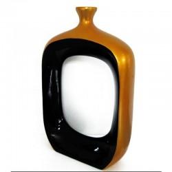 """Vase design TGM or intérieur noir """"existence"""" 81 cm"""