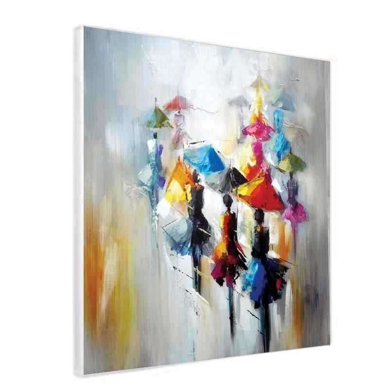 Tableau contemporain 60x60 cm parapluie tableau de - Tableaux tryptiques contemporains ...
