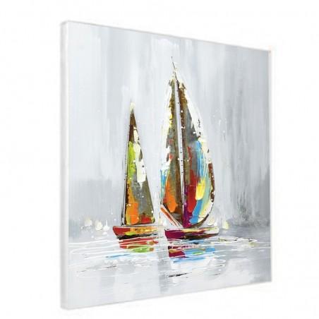 Tableaux voiliers multicolores 60x60