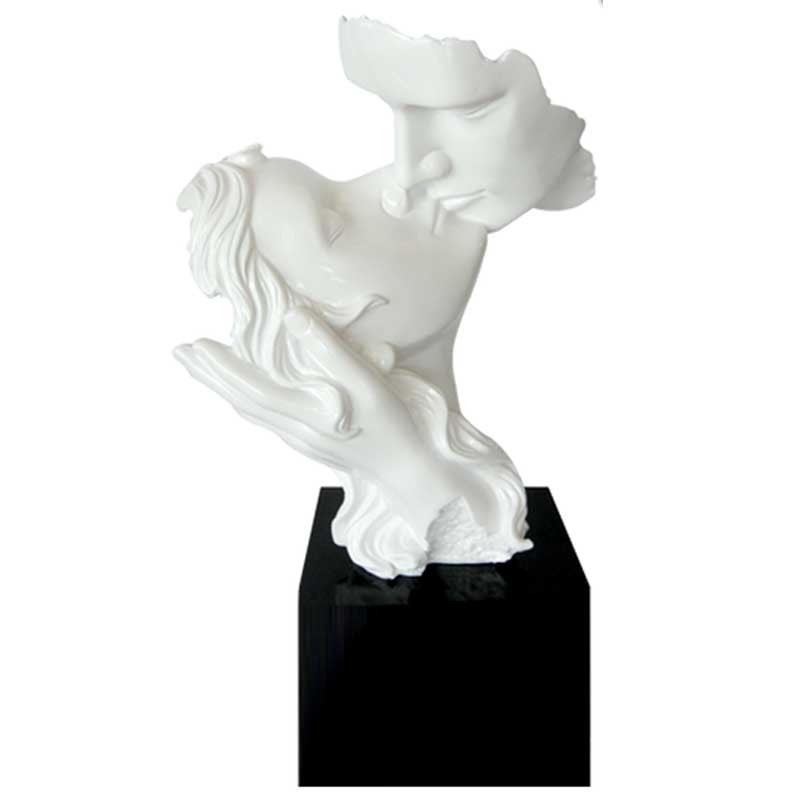 Célèbre sculpture contemporaine à poser-statuette design couple-couple baiser MQ06