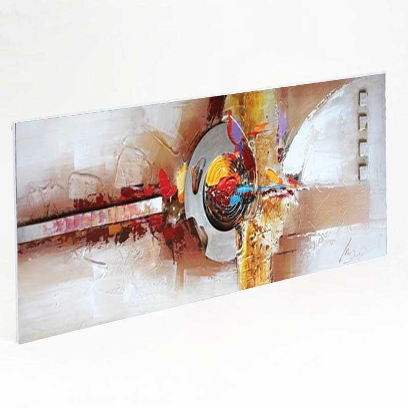 tableau contemporain 50x150 toile peinte et pi ce m tal en. Black Bedroom Furniture Sets. Home Design Ideas