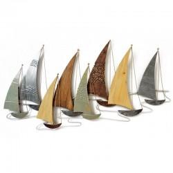 décoration murale métal et bois Voiliers bateaux