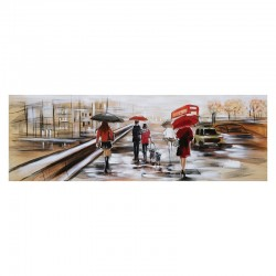 Tableau contemporain Promenade à LONDRES 50x150