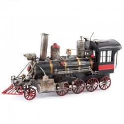 Déco métal à poser locomotive noire