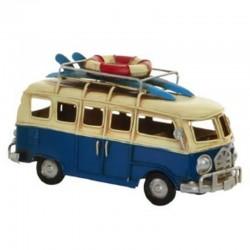 Déco métal vintage VAN COMBI SURF volkswagen bleu à poser