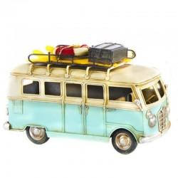 Déco vintage COMBI/VAN Volkswagen bleu
