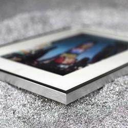 Tableaux contemporains PARME/ARGENT 60x60 cm