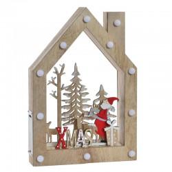 Déco noël, Maison en bois...
