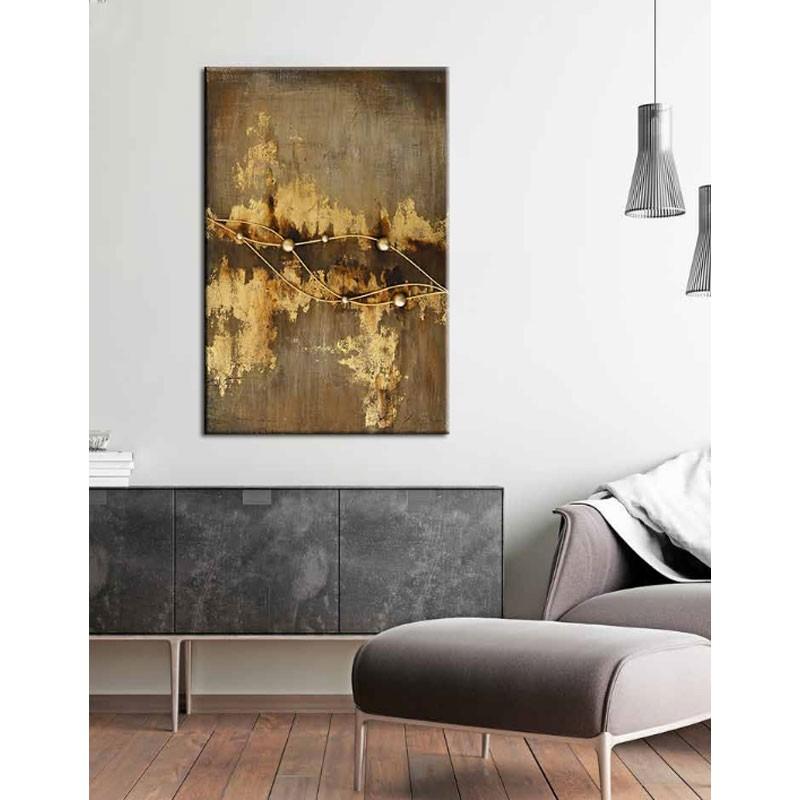 """ Galaxie "", Tableau contemporain abstrait 80x120 cm"