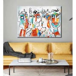 """"""" VISAGES DESIGN """",Tableau contemporain 80x120 cm"""