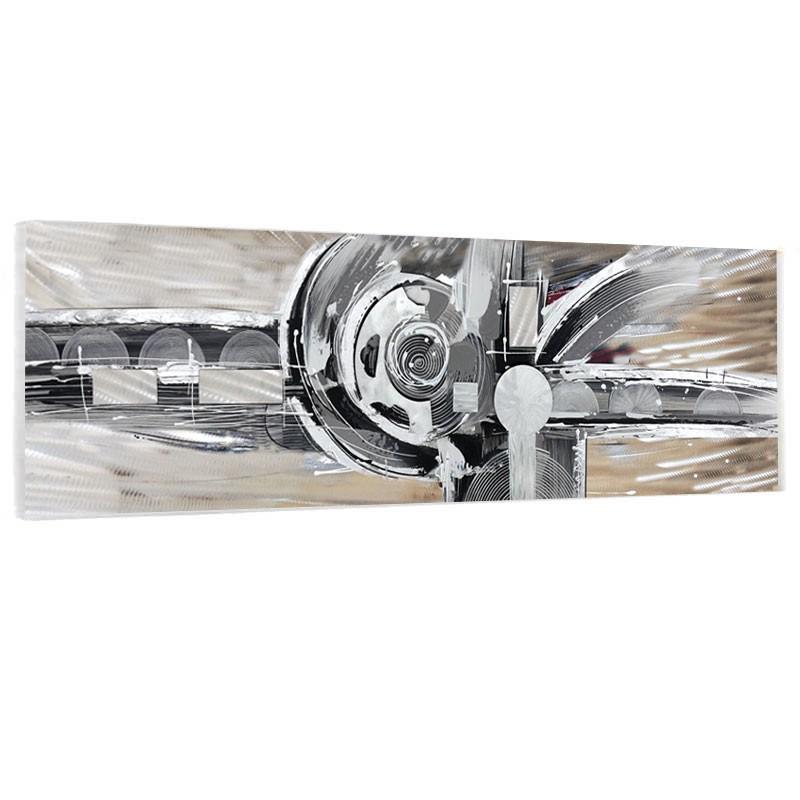 """"""" Design métal """", Tableau contemporain abstrait 50x150."""
