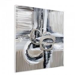 Tableau contemporain ABSTRAIT ALU, 60x60 cm.