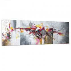 """"""" Explosion de couleurs """" ,Tableau contemporain,50x150cm"""