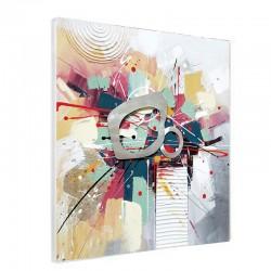 """"""" éclats de couleurs """", Tableau contemporain design 80x80 cm"""
