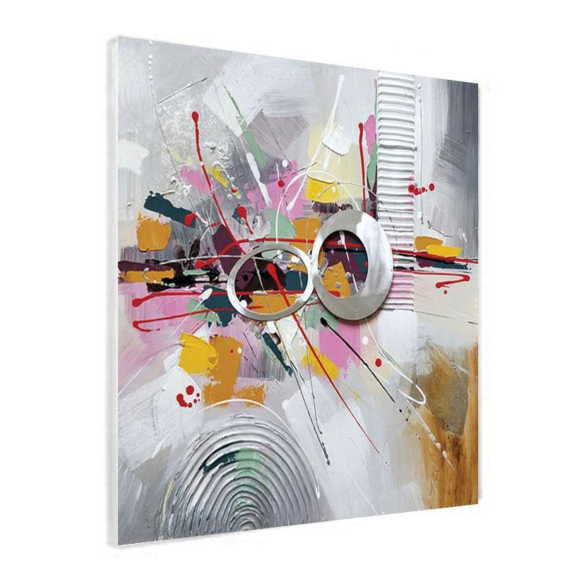 """"""" Explosion de couleurs """",  Tableau contemporain abstrait60x60cm"""