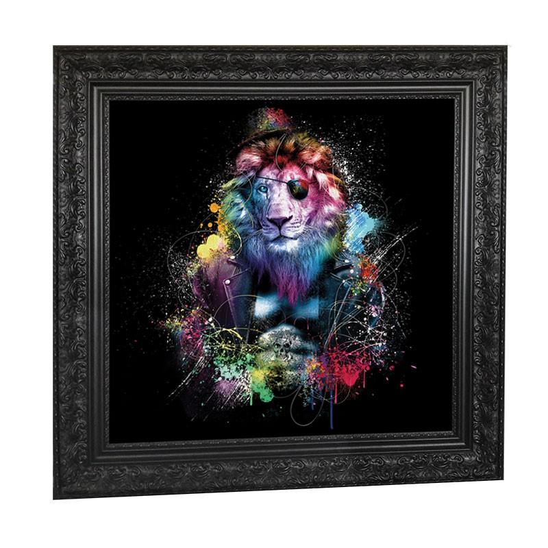 """"""" LION """", 89x89 cm, tableau design SYLVAIN BINET"""