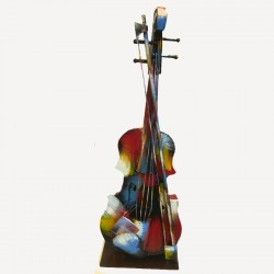 """Violon Pigment"",Sculpture design métal"