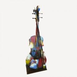"""""""Violon Pigment"""",Sculpture design métal"""