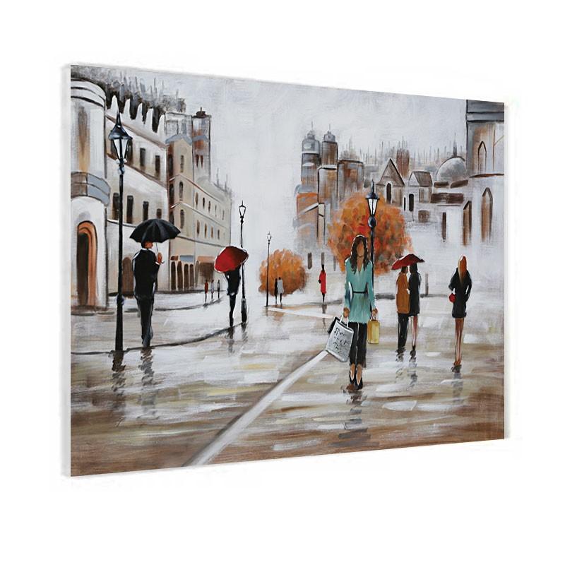 """"""" Journée Shopping """", Tableau contemporain urbain, 80x120"""