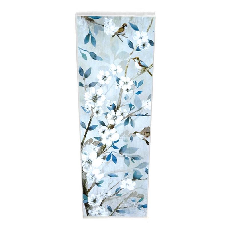 "Tableau contemporain ""Branches fleuries 2 "", 30x90"