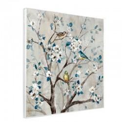 """"""" Branche fleurie 1"""", Tableau contemporain floral ,50x50"""