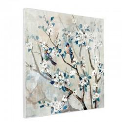 """"""" Branche fleurie 2 """", Tableau contemporain floral, 50x50"""