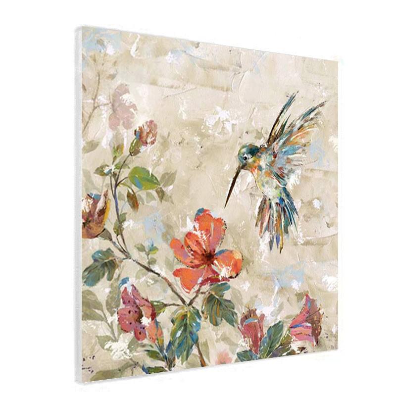 """"""" Martin pêcheur """", Tableau contemporain nature,50x50 cm"""