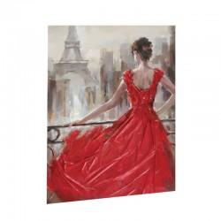 """ Femme robe rouge "",..."