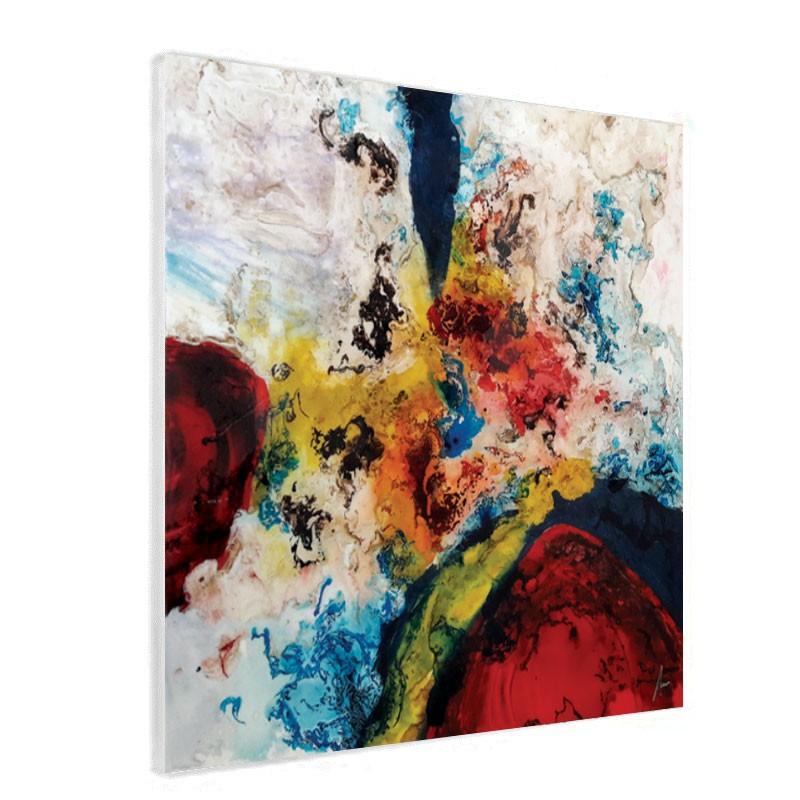""""""" Tourbillon de couleurs 1 """", Tableau contemporain abstrait"""