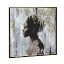 """Femme africaine 1"",Tableau contemporain 60x60"