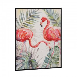 """ Flamants roses 1 "", Tableau contemporain nature, 60x80"