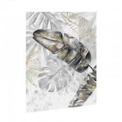""""""" Feuilles de palmiers 1 """", Tableau contemporain floral,60x80"""