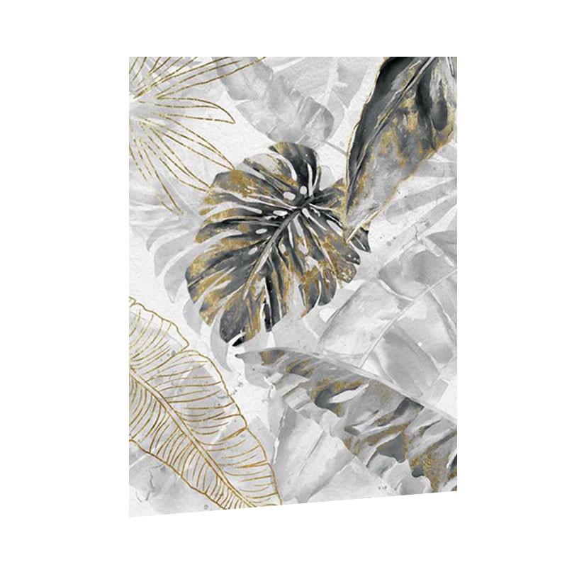 """Tableau contemporain """" Feuilles de palmiers 2 """",60x80"""
