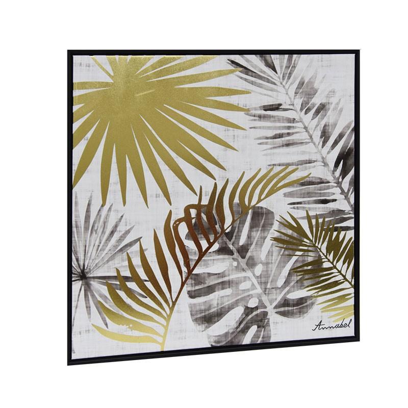 """Tableau contemporain """" Feuillage exotique 2 """", 60x60"""