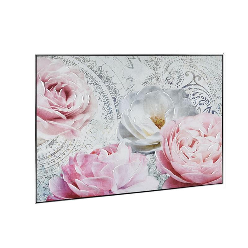 """"""" Pivoines, roses """",Tableau contemporain floral, 60x80"""