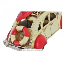 """"""" 2 CV beige/rouge """", véhicule déco métal vintage"""