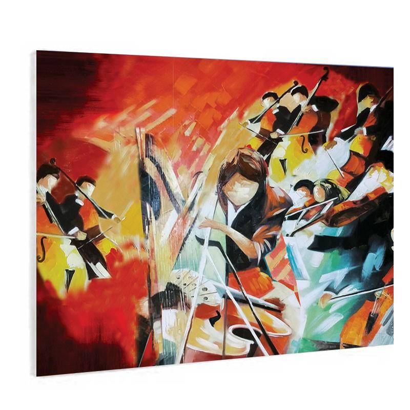 """"""" Musiciens, orchestre"""", Tableau contemporain musique"""