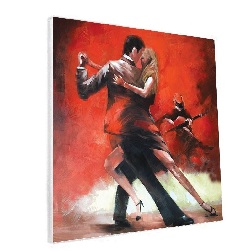 """Tableau contemporain """"Danseurs de Tango """"."""