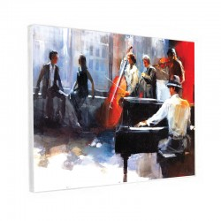 "Tableau contemporain "" Ambiance Piano-bar """
