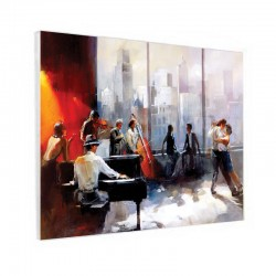 """ Ambiance Piano-bar dansant "", Tableau contemporain design"
