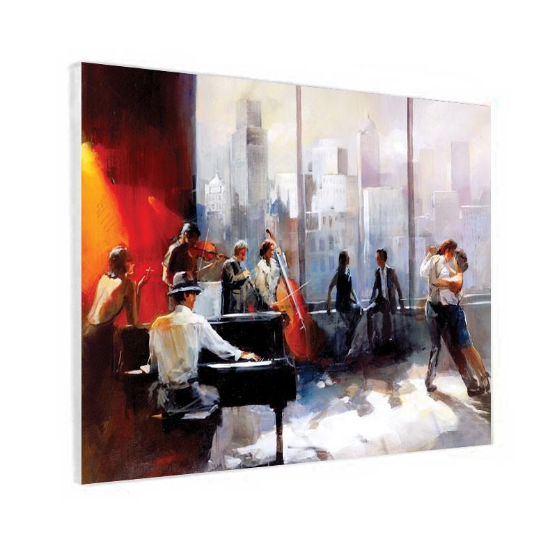 """"""" Ambiance Piano-bar dansant """", Tableau contemporain design"""