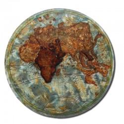 Déco murale métal, Mappemonde relief
