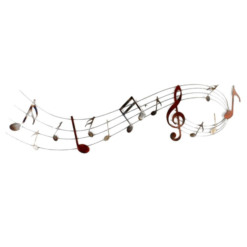 """"""" Portée musicale """", déco murale métal musique"""