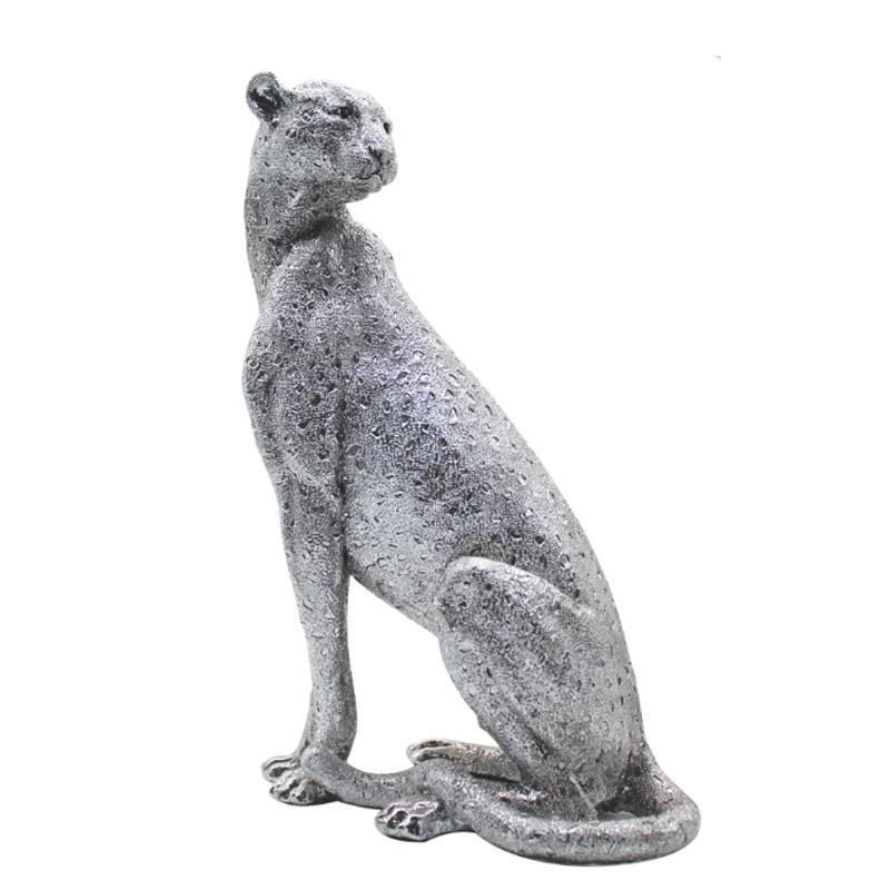 """"""" Panthère assise  """", Statuette déco design, 41cm"""