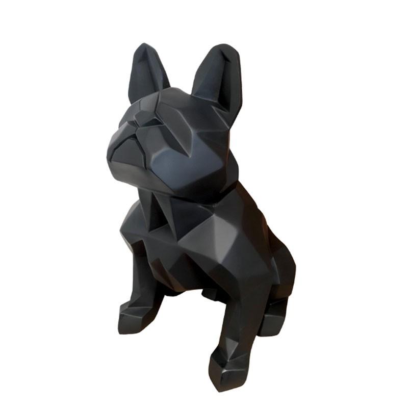 """""""Bouledogue origami noir"""", statuette déco design"""