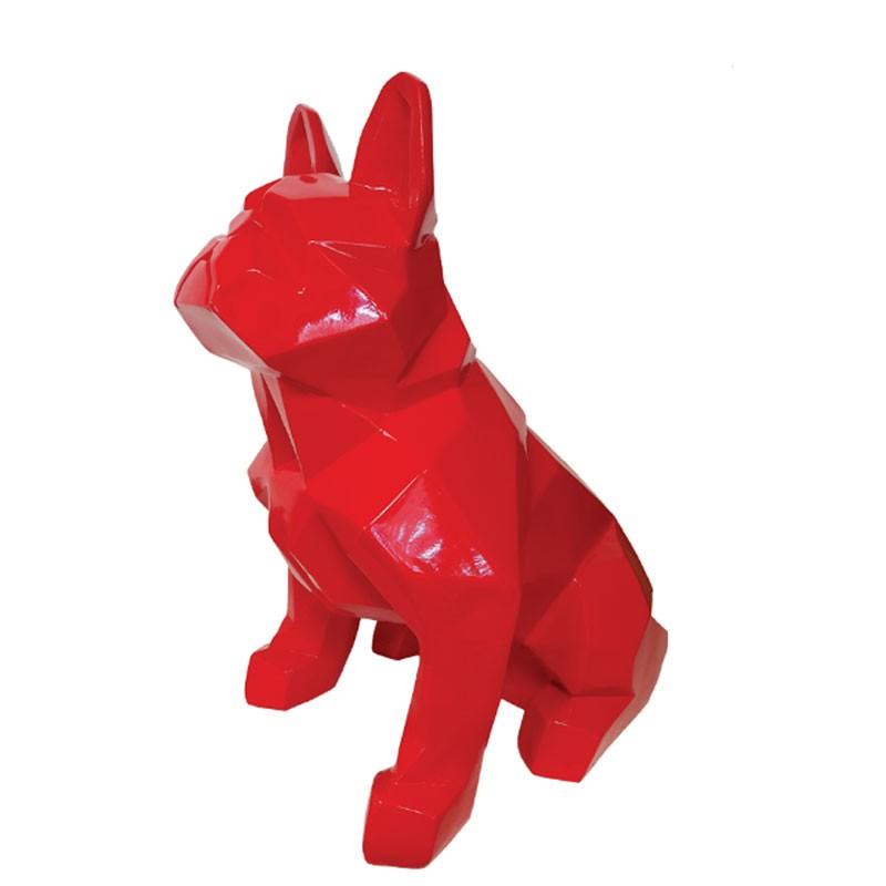 """""""Bouledogue origami rouge"""", statuette déco design"""