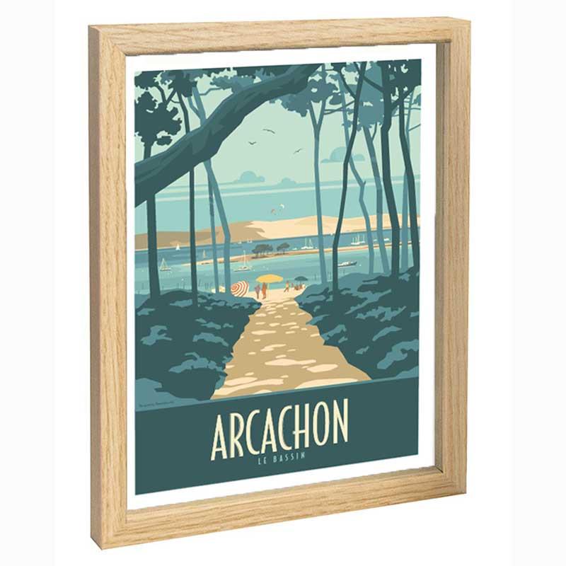 Arcachon Travel poster 30x40