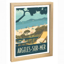 Argeles sur mer, Travel poster 30x40